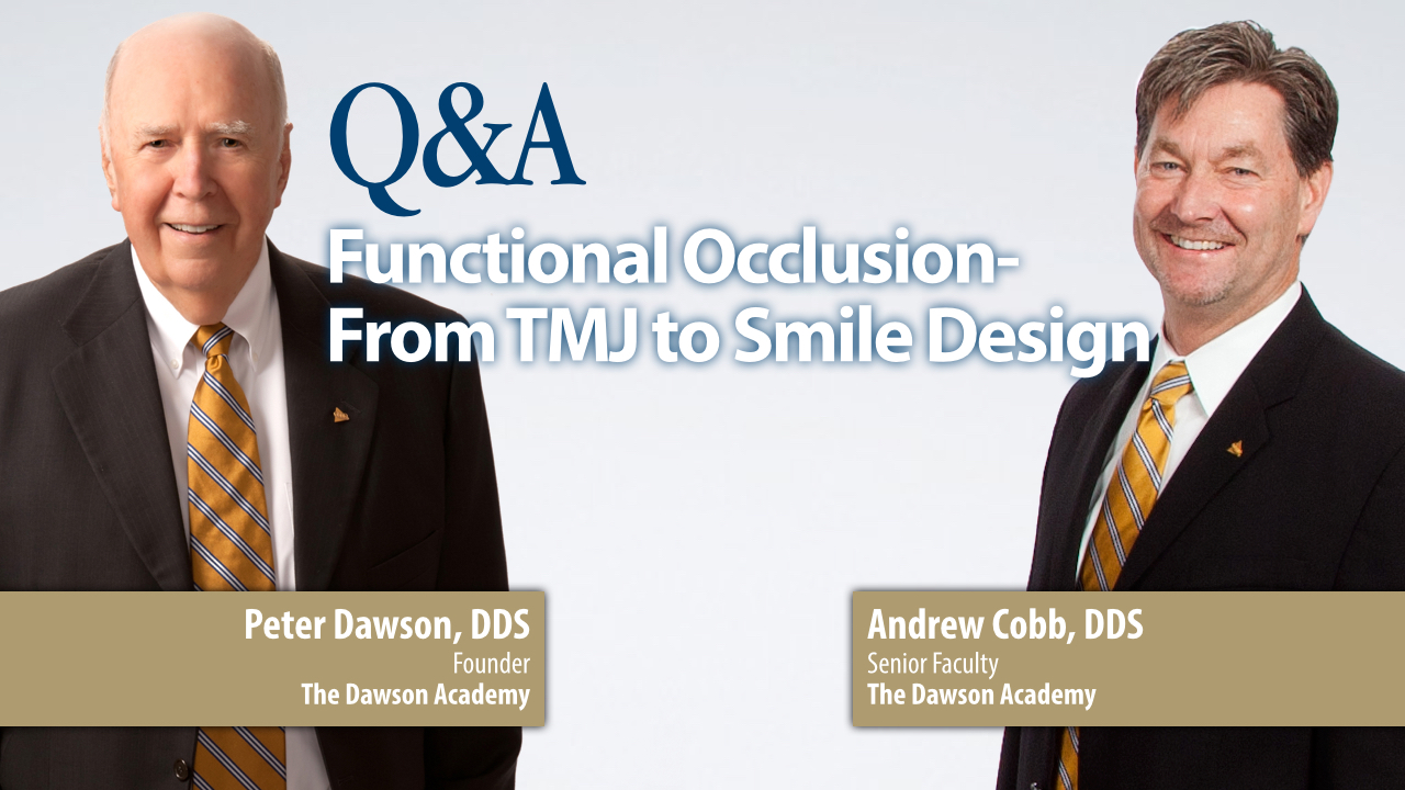 Functional Occlusion Questions