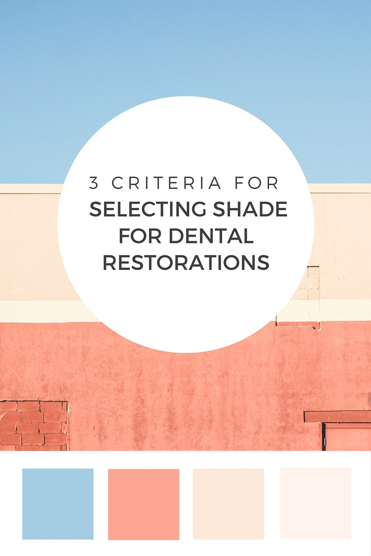 Selecting Shade for Dental Restorations