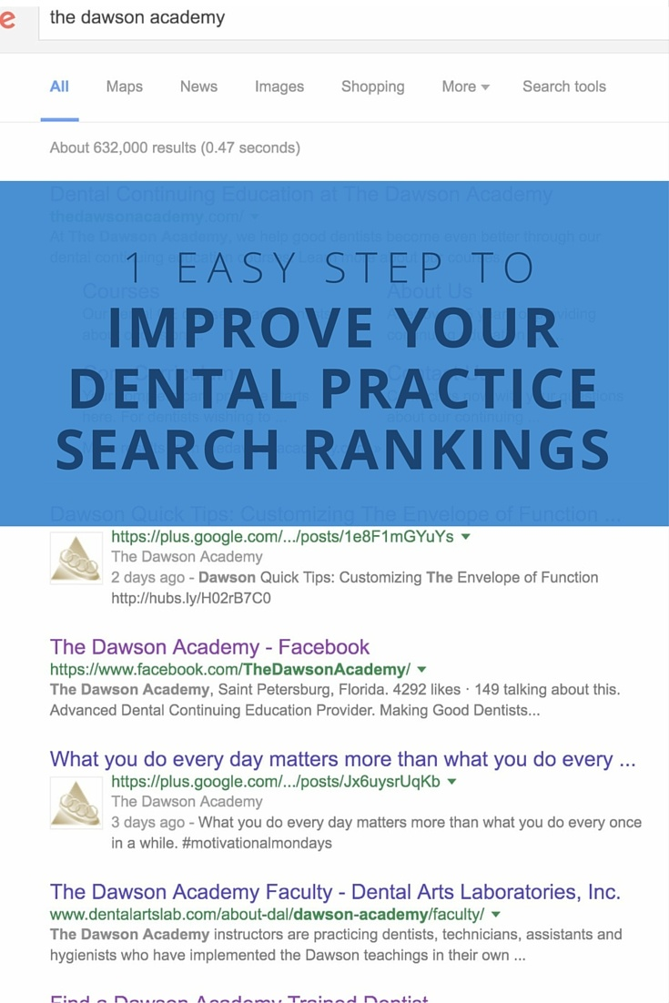 Improving Dental Practice Search Results
