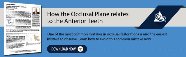 How the Occlusal Plane Relates to the Anterior Teeth